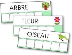 18 fiches pour apprendre à écrire les mots du printemps en capitale ou en script. Atelier des mots du printemps, écrire mots printemps
