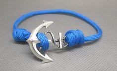 Bracelet réglable paracorde bleu ( mixte)