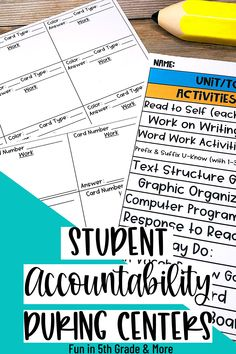 Accountability during centers is SO hard! It's tough to get students to be accountable for their work sometimes. This post gives you ideas for holding student accountability during this time so that you know they are making the most of their time. Using games and fun activities will help and this post includes free recording sheets. Classroom Routines And Procedures, Classroom Management Strategies, Classroom Activities, Classroom Organization, Fun Activities, Classroom Ideas, Elementary Teacher, Elementary Schools, Upper Elementary