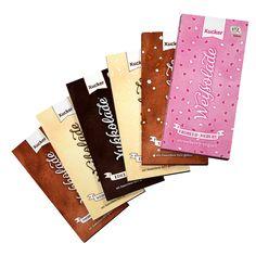 Xucker Schokoladen-Kombi - Alle Weißoladen und Xukkoladen nur mit Xylit gesüßt, im Probier-Set. GMO-frei. UTZ-zertifiziert.