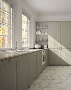 Romantic Home Decor .Romantic Home Decor Kitchen Interior, Interior Design Living Room, Kitchen Decor, Big Kitchen, Interior Livingroom, Green Kitchen, Interior Modern, Vintage Kitchen, Interior Ideas