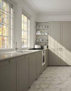 Romantic Home Decor .Romantic Home Decor Küchen Design, Home Design, Kitchen Colors, Kitchen Decor, Big Kitchen, Green Kitchen, Vintage Kitchen, Cheap Dorm Decor, Home Decor Paintings