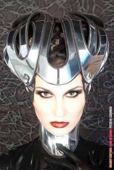 futuristic helmet modern warrior helmet scifi warrior by divamp Steampunk, Headdress, Headpiece, Futuristic Helmet, Burning Man 2017, Warrior Helmet, Eiko Ishioka, Cosplay, Cybergoth