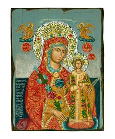 Virgin Mary of Roses, Aged-Silver Swarovski Halo Icon-Christianity Art Religious Icons, Religious Art, Amaranth Flower, Virgin Mary, Natural Wood, Christianity, Halo, Canvas, Drawings
