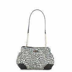 $18.95 SKYLAR - PETITE SHELL -  SKU 5141 Rowrrrr! Who says Petite Bags can't be fierce? The Skylar Shell will bring out your inner wild woman with its high-fashion snow leopard print and jet black bottom corner details. Added bonus: This little beauty has end pockets for extra storage! There's a matching coin purse as well! See Petite Base Bag on this board.