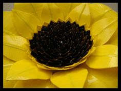 Duct Tape Sunflower CloseUp by DuckTapeBandit.deviantart.com