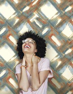 York Wallcoverings Cloud Nine District Removable Wallpaper Blues/Oranges Wallpaper Size, Wallpaper Samples, Designer Wallpaper, Blue Orange, Modern Design, Blues, T Shirts For Women, Cloud, Wallpapers