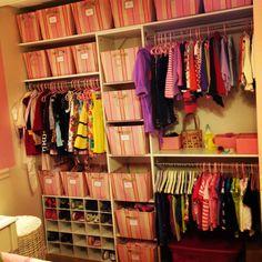 Perfect Closet For Lilli's Room!