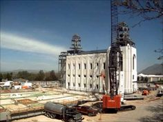Time lapse of exterior construction of the Brigham City Temple, summer 2011