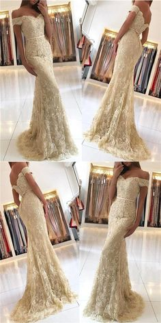 On Sale Great Mermaid Prom Dresses Charming Mermaid Off The Shoulder Prom Dress Lace Evening Dress Long Prom Dress Evening Dress Long, Lace Evening Dresses, Evening Gowns, Lace Dress, Formal Dresses, Long Dresses, Beaded Dresses, Mermaid Gown, Mermaid Prom Dresses