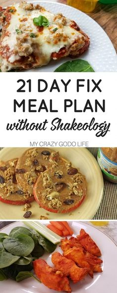 If you are not a fan of Shakeology, you don't have to miss out on all the meal planning convenience. Here is a 21 Day Fix Meal Plan without Shakeology! (recipe pasta 21 day fix) Healthy Recipes, Clean Eating Recipes, Diet Recipes, Healthy Snacks, Healthy Eating, Diet Tips, Diet Meals, Recipes Dinner, 21day Fix Meals