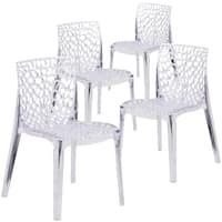 Flash Furniture Vision Series Transparent Stacking Side Chair Pack) for sale online Bar Furniture, Furniture Deals, Dining Room Chairs, Side Chairs, Ghost Chairs, Transparent Design, Chair Types, Stackable Chairs, House Prices