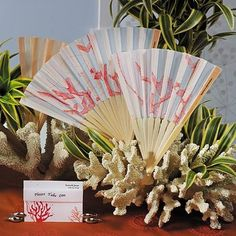 Our most popular beach wedding fans! Complement your beach wedding with our beautifully designed Coral Reef Bamboo Hand Held Fan Favors. Wedding Program Fans, Wedding Fans, Red Wedding, Wedding Ideas, Wedding Stuff, Wedding Inspiration, Cuba Wedding, Wedding Ceremony, Wedding Planning