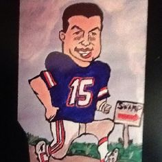 Tim Tebow;-)) I drew this!