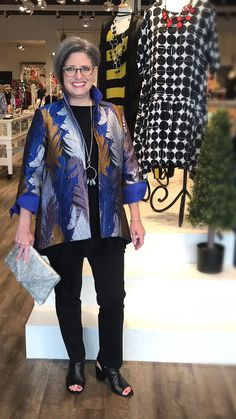 June 2018 - Fall makes a statement with this Joseph Ribkoff jacket, worn by our Rectangle shaped model. Rectangle Shape, Body Shapes, Joseph, June, My Style, Blouse, Fall, Model, How To Make