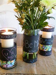 DIY Chalkboard paint vases