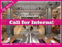 Call for Interns!   Can be local or virtual in these areas:  Business, Marketing & PR, Communications, Journalism, or Design   Apply here http://womenceoproject.com/call-for-interns/  #internship #2014interns #findaninternship