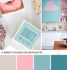 Blue and Pink Kitchen Color Palette on HGTV's Design Happens Blog
