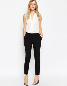 Image 1 ofASOS Skinny Fit Ankle Grazer Trousers