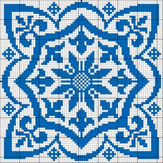 Square motif for cross stitch or filet crochet. < all i see is a great potential for MC pixel art and stuff. Cross Stitch Pillow, Cross Stitch Charts, Cross Stitch Designs, Cross Stitch Patterns, Cross Stitching, Cross Stitch Embroidery, Embroidery Patterns, Crochet Cross, Crochet Chart