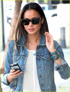 Jamie Chung Spotted in LMC Jamie Chung Spotted in LMCTeal-Gold Pyramid Stud