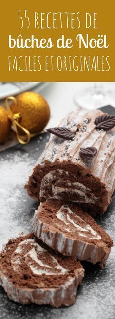 The yule log is the center of many European Christmas celebrations; Buche de Noel is the traditional French dessert yule log. Our version uses a light chocolate cake, whipped cream filling, and buttercream chocolate frosting. Xmas Food, Christmas Cooking, Christmas Desserts, Christmas Log, Traditional French Desserts, Yule Log Cake, Food Log, Homemade Cake Recipes, Chocolate Decorations