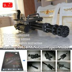 2016 New 1:1 Scale Gatling M134 minigun 3D paper model toy Machine gun cosplay weapons gun Paper model Toy figure-in Model Building Kits from Toys & Hobbies on Aliexpress.com | Alibaba Group