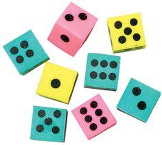 dice erasers Case of 864