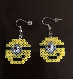 A personal favorite from my Etsy shop https://www.etsy.com/listing/540167735/minion-perler-bead-earrings