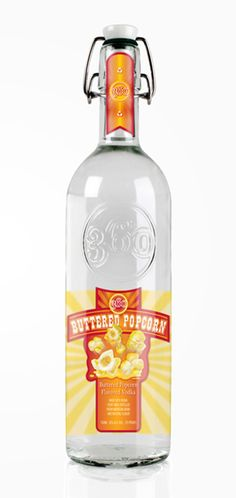 Buttered Popcorn Vodka - I just puked in my mouth. Makes me think of those gross buttery popcorn jelly bellys. GROSS!