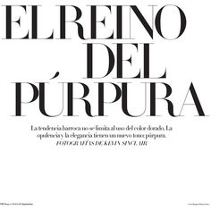 Reka Nagy Has Purple Power for Harper's Bazaar Mexico October 2012 by... ❤ liked on Polyvore featuring text, words, backgrounds, magazine articles, quotes, phrase and saying