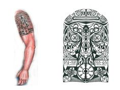 Thors-Hammer-Viking-Tribal-Tattoo.jpg (1024×768)