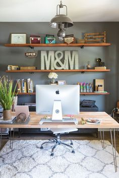 DIY Office Office Organization Office Makeover Small Office Work From Home  Chic Office Interior Design Office Home Office Decor