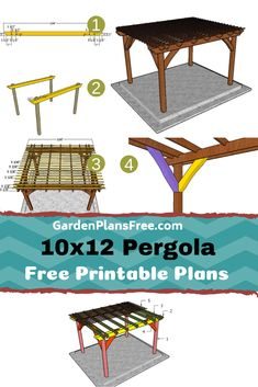 If you want to learn more about pergola plans you have to take a close look over the free plans in the article. I have designed this super simple pergola so you can create some shade in your beautiful garden. Pergola Patio, Pergola Cost, Pergola Curtains, Pergola Swing, Metal Pergola, Cheap Pergola, Pergola With Roof, Wooden Pergola, Pergola Shade