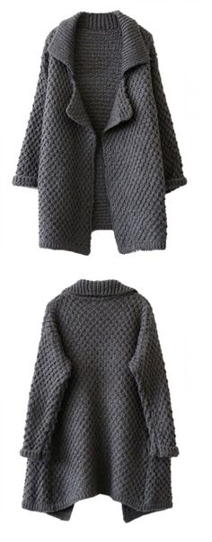 This gray knit cardigan is a must have! I'm definitely going to be wearing these * * *!:))