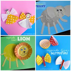fun cupcake liner crafts