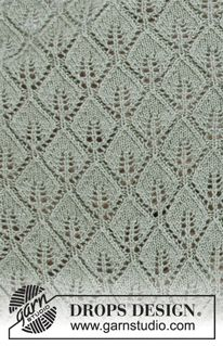 Ravelry: Sage Dream pattern by DROPS design Easy Scarf Knitting Patterns, Knitting Machine Patterns, Knitting Stiches, Cable Knitting, Shawl Patterns, Doily Patterns, Knitting Charts, Free Knitting, Stitch Patterns