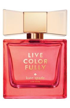 Live Colorfully eau de parfum by Kate Spade: Great message for any mom!