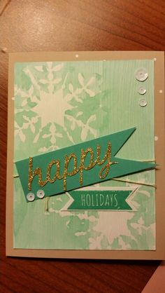 Stampin' Up! demonstrator Tracy A's project showing a fun alternate use for the Watercolor Winter Simply Created Card Kit.