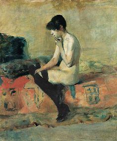 Henri de Toulouse-Lautrec (French, 1864 -1901) - Nude study, 1882/83 Musée Toulouse-Lautrec, Albi, France