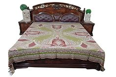 #bedding #bedcover #bedspreads #bedthrow #homedecor #ethnic Bohemian Bedspread, Boho Bedding, Indian Bedding, Moroccan Bedding, Winner, Green Bedding, Self Design, Sofa Throw, Bed Throws