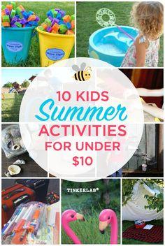 10 Kids Summer Activities for Under $10