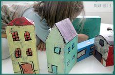 Cardboard houses - mama recicla