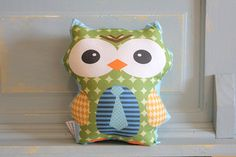stuffed OWL PETUNIAS' Owl Pillow doll toy toddler baby by PETUNIAS, $16.50