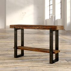 Furniture For Small Bedrooms Live Edge Console Table, Iron Console Table, Rustic Console Tables, Plywood Furniture, Rustic Furniture, Painted Furniture, Furniture Design, Entrance Table, Entryway Tables