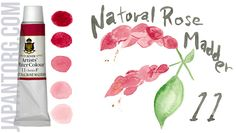 TURNER Artists' Water Colour, Art Paints Colour Name : Natural Rose Madder Code : 11 /F Light Fastness : Poor Transparency: A (Transparent) Capacity : 15 ml  #painting #artists #water #colour #natural #rose #madder #red  #sample