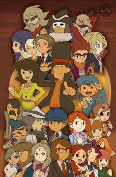 Professor Layton characters ^.^