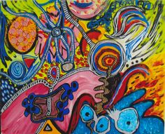 """""""Osmosis"""" Acrylic Painting from 2013 by Kerstin Beckemeier"""