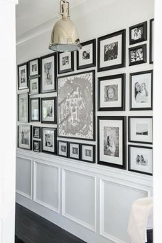 Black + White Gallery Wall Pawleys Island Posh: The Doctors Closet | Style Me Pretty Home Tour
