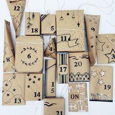 hand-drawn advent calendar